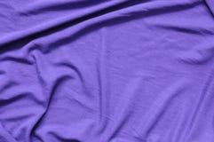 淡紫色球衣布料 免版税库存图片