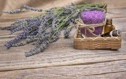 淡紫色盐海运 仍然1寿命 免版税库存图片
