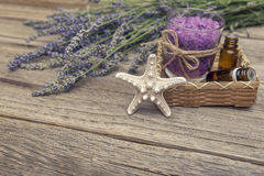 淡紫色盐海运 仍然1寿命 库存图片
