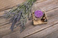 淡紫色盐海运 仍然1寿命 图库摄影
