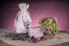 淡紫色肥皂 免版税库存照片