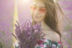 淡紫色花束的气味 免版税库存图片