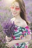 淡紫色花花束  免版税图库摄影