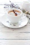 淡紫色茶 图库摄影