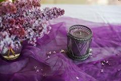 淡紫色装饰 免版税库存照片