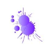 淡紫色水彩油漆下落 免版税图库摄影
