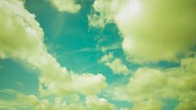 深减速火箭的天空和云彩 库存图片