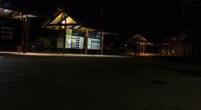 深刻的星际在大峡谷的亚利桑那夜长的曝光的 免版税库存图片