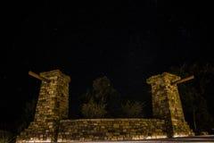 深刻的星际在大峡谷的亚利桑那夜长的曝光的 库存图片