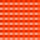 深刻的橙色桌布传染媒介 传统桌布样式传染媒介 深刻的橙色颜色正方形样式 免版税库存照片