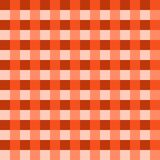 深刻的橙色桌布传染媒介 传统桌布样式传染媒介 深刻的橙色颜色正方形样式 免版税库存图片