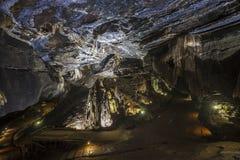 深在Sudwala洞里面在南非 免版税库存照片