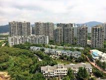 深圳从上面的住所视图 免版税库存照片