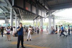 深圳海湾口岸香港边 库存照片
