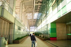 深圳瓷:baoan健身房内部风景 免版税图库摄影