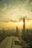 深圳,中国一张鸟瞰图  免版税库存图片