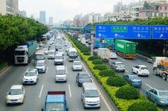 深圳,中国:交通堵塞 免版税库存图片