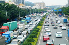 深圳,中国:交通堵塞 免版税图库摄影
