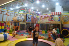 深圳,中国:儿童的娱乐中心 免版税库存图片