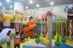 深圳,中国:儿童的娱乐中心 库存图片