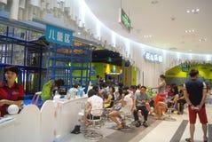 深圳,中国:儿童的娱乐城市 库存照片