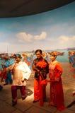 深圳,中国:古老结婚的雕塑风景 免版税库存图片