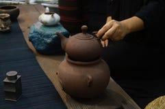 深圳,中国:品尝茶饮料 免版税库存照片