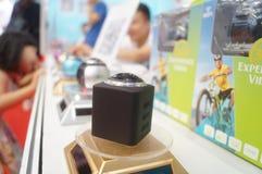 深圳,中国:国际虚拟现实,全息照相的技术陈列 免版税图库摄影