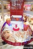 深圳,中国:在新春佳节商城装饰时 库存图片