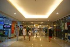 深圳,中国:地下商业广场 库存图片