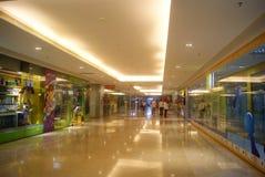 深圳,中国:地下商业广场 免版税库存照片