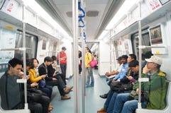 深圳,中国:地铁交通 免版税图库摄影