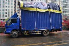 深圳,中国:垃圾中转站 免版税库存图片