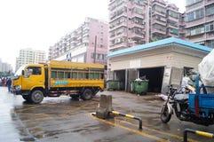 深圳,中国:垃圾中转站 库存照片