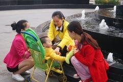 深圳,中国:增进产品的Beauty小姐 库存图片