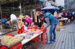 深圳,中国:快餐摊位 免版税库存照片