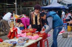 深圳,中国:快餐摊位 免版税图库摄影