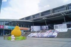 深圳,中国:深圳大会和展览会正方形风景 免版税库存照片
