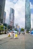 深圳,中国:深圳大会和展览会正方形风景 免版税库存图片