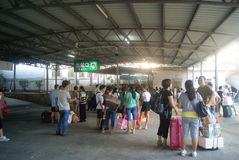 深圳,中国:火车站 库存照片