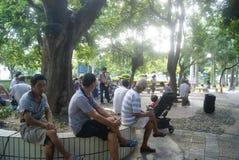 深圳,中国:空闲场所的人们 免版税库存图片