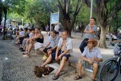 深圳,中国:空闲场所的人们 库存照片