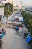 深圳,中国:路面建筑 免版税库存照片