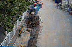 深圳,中国:路面建筑 免版税图库摄影