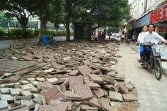 深圳,中国:边路建筑 库存照片