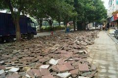 深圳,中国:边路建筑 库存图片