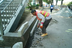 深圳,中国:边路建筑 免版税库存照片