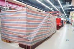 深圳,中国:除夕,及早被关闭的商店 库存照片