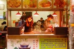 深圳,中国:食物失去作用为了人能吃 库存照片