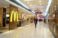 深圳,中国:麦克唐纳餐馆 库存图片